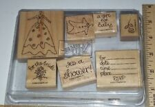 """""""New Beginnings"""" Set 7pc lot Stampin Up! Rubber Stamp - UNUSED!"""