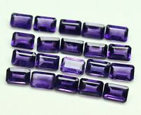 NATURAL PURPLE AMETHYST 8X6 MM OCTAGON CUT FACETED LOOSE AAA GEMSTONE LOT