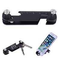 Portable Aluminum Key Holder Organizer Clip Keyring Keychain EDC Pocket Tool