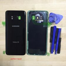 Rear Glass Back Cover Panel with Camera Frame For Samsung Galaxy S8 G950 Black