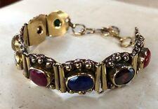 Navratan Bracelet Nine Planet Gemstone Healing Semi precious gemstone Adjustable