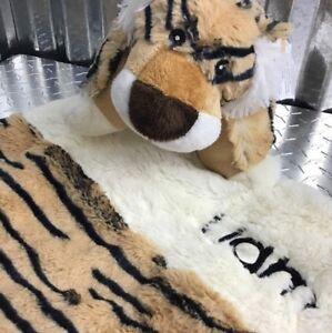 Plush Toddler Sleeping Bag with Matching Plush Pillow Liam The Tiger Theme Brown