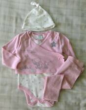 Disney Winnie The Pooh Baby Girls 4 Piece Layette Set/pretty Pink Outfit 9-12m