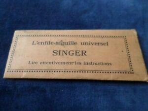 Singer Sewing Machine Universal Needle Threader Simanco 121632 & Instructions