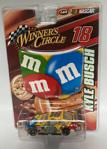 KYLE BUSCH #18 M&M's 1:64 Scale NASCAR Diecast With Hood 2008 Winners Circle