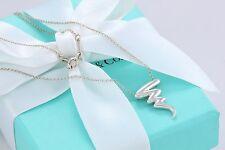 "Tiffany & Co Silver Paloma Picasso Zig Zag Scribble Pendant 16"" Necklace w/Pouch"