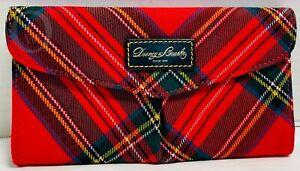 Dooney & Bourke~RED Wool* Tartan Plaid*Continental Wallet* #21170F