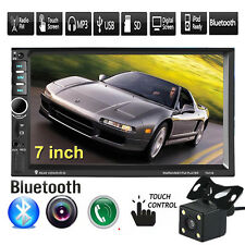 """Bluetooth 7"""" In Dash 2 Din Car Stereo MP5 Player FM/USB/SD Touch Radio + Camera"""