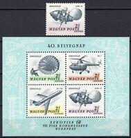 #797 - Ungheria - Francobollo + foglietto Aerofila, 1967 - Nuovi (** MNH)