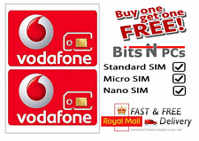 Vodafone Pay As You Go SIM Card - BUY ONE GET 1 FREE!