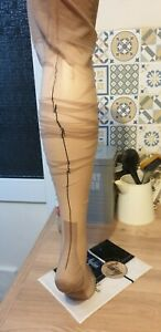 """Vintage stockings """"finery"""" RHT and black seamed sheer stockings"""