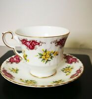 Vintage ROYAL WINDSOR England Bone China Primroses  Tea Cup & Saucer