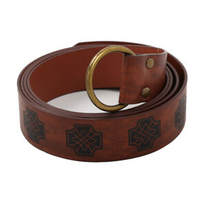 Medieval Viking Knight Belt for Vintage Copaly Costume Robe Tunic Waist Belts