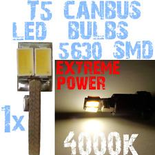 1 LED T5 5630 4000K Wit Licht Dashboard Interior Carpanel Instrument 12V 1A9.1 1