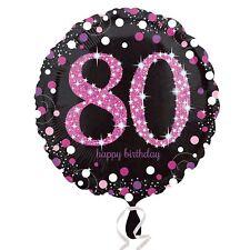 PINK Celebrazione Scintillante 80th Festa Di Compleanno Palloncini Stagnola standard