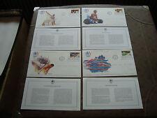 ETATS-UNIS - 4 enveloppes 1er jour 8/4/1983 (jo los angeles)(cy86)united states