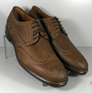 203946 MS50 Men's Shoes Size 9 M Brown Leather Lace Up Johnston & Murphy