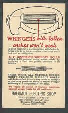 Ca PC1936 Balamut Elec Shop Monaca Pa Sells B F Goodrich Wringer Rolls Mint Face