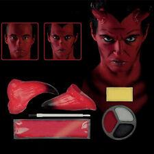 Halloween Horror Red Demon Devil Horns Fancy Dress Face Paint Make Up Kit