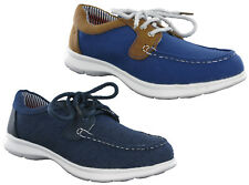 Heavenly Feet Memory Foam Lightweight Canvas Lace Deck Boat Shoes Womens Pumps
