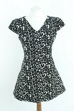 Zara Black White Loose Short Sleeve Woman Dress Size S 49