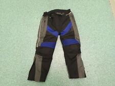 "Hunter Waist 26"" Leg 20"" Black Grey & Blue Textile Boys 8 Yrs Motorbike Trousers"