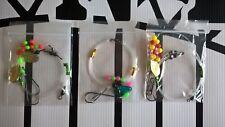 Sea fishing Rigs x 3 - Flatfish rigs - Dab, Plaice, Turbot, Flounder shore rigs