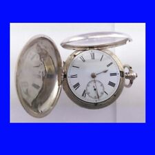 Stunning Silver Dent of London Fusee Lever Hunter Pocket  Watch 1883