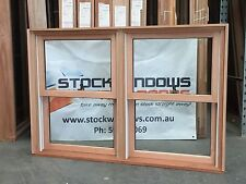 Timber Double Hung Window 1025h x 1512w Twin Sash DOUBLE GLAZED - IN STOCK NOW
