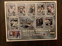 "1992-1993 UPPER DECK WAYNE GRETZKY COMMEMORATIVE ""HOCKEY HEROS"" POSTER"