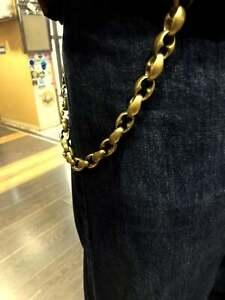 Handmade Solid Brass Theta Wallet Chain Bronze