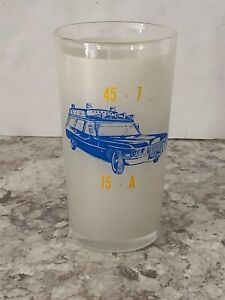 Vintage 72 Cadillac Ambulance Hearse Miller Meteor Frosted Highball Glass