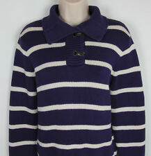 Ralph Lauren pullover sweater convertible collar w/ buckles Purple Womens Size L