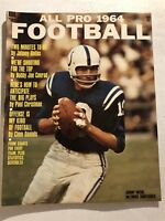 1964 All Pro Football BALTIMORE Colts JOHNNY UNITAS AFL NFL Preview GEORGE HALAS