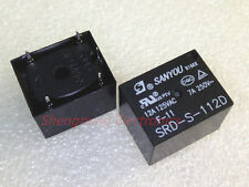 10PCS 5pins 12VDC SANYOU SRD-S-112D 12A 125VAC Power Relay