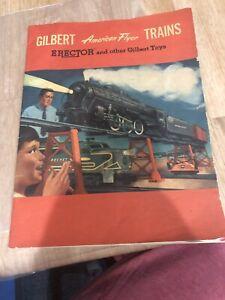 A3) American Flyer 1950's Catalog Gilbert Trains Erector Booklet