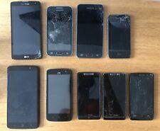 Lot of 9 Smartphones (Zte, Motorola, Apple, Samsung) - *See Desc.*