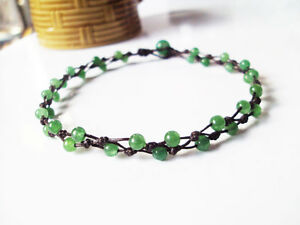 Jade anklet,Green anklets,Stone anklets,Men anklets,Women anklets