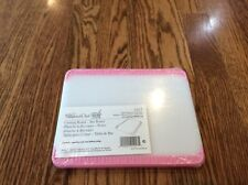 Pampered Chef White/Pink Cutting Board #1017 Help Whip Cancer Rare Retired