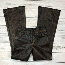 Alberto Makali Faux Leather Pants Size 4 Womens PVC Pleather Flare 214226 PVC