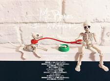 "Set of Mr. Bones with Dog Skeleton Fully Posable Action Figure Set 2""-3"""