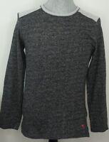 Tommy Bahama Men's Medium Fleece Sweatshirt Black Gray Crew Neck Long Sleeve
