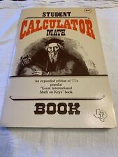 1980 Texas Instruments STUDENT CALCULATOR MATH Vintage Soft Cover Book