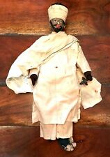 Antique Cloth Ethiopian Orthodox Doll Very Old White Linen Clothes Needs Repair
