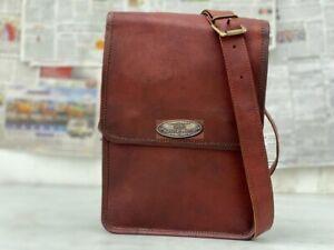 Bag Leather Men Shoulder S Messenger  Briefcase Work Bag Dark Brown Satchel