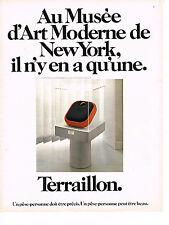 PUBLICITE   advertising 1974   TERRAILLON   pése-personne