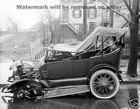 Photograph Vintage Car Wreck Accident Washington DC  1917   8x10
