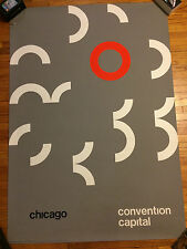 Vtg 60s Poster John Rieben Mid Century Modern Graphic Design Art Chicago Print