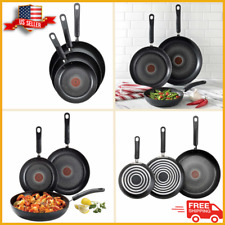 T-Fal 3-Piece Fry Pan Set Titanium Non-stick Cookware Kitchen Oven Safe NEW