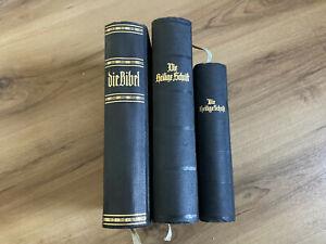 Bibel Die Heilige Schrift Luther 3 x Bibeln 30er Jahre Vorkrieg Antik